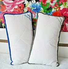 Pack of 2 Merino Wool Pillows wool filled cotton pillow cover white zipped bed