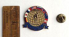 ORIGINAL 1996 CENTENNIAL OLYMPIC GAMES ATLANTA GLOBE FLAGS WORLD PINS ON CARD