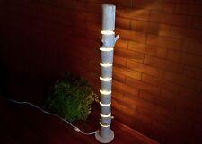 Wooden floor lamp is made of natural logs, floor fixtures, driftwood