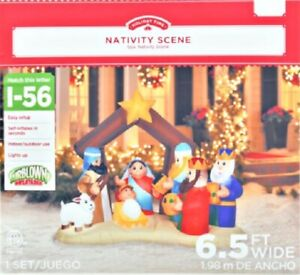 Holiday Time 6.5ft Nativity Scene Inflatable new