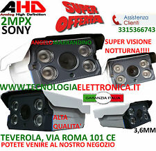 TELECAMERA VIDEOSORVEGLIANZA 3,6MM AHD 4 LED ARRAY 2MPX ALTA QUALITA'