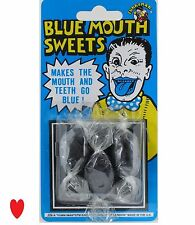 practical joke prank blue mouth sweets 3 pack Hilarious candy