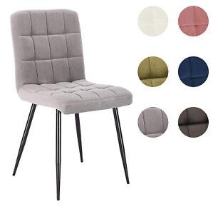 1/2/4/6x Esszimmerstühle aus Samt Esszimmerstuhl Küchen Wohnzimmer Stuhl Metall