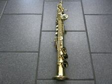 Gold Soprano Straight Saxophone Sax w/ Case & Accessories