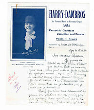"""HARRY DAMBROS (LOUIS DAMBREVILLE) """"CHANTEUR EXCENTIQUE"""" 1934"""