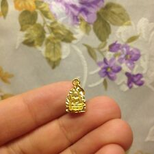 Mini Phra Buddha Yant Maha Ud Thai Amulet Micon-Gold Plated Luck Rich Protect