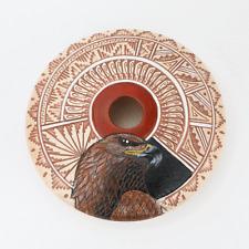 NATIVE AMERICAN NAVAJO EAGLE POT BY ARNOLD BROWN NAVAJO POTTERY