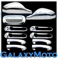 Chrome Non-Fold Mirror+4 Door Handle+PSG KH+Tailgate Cover for 05-11 Dakota