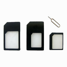 SIM Adapter Converter & SIM Pin Ejector For iPhone 3 4 4S 5 5S 5C Galaxy S4 S3