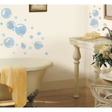 Blue BUBBLES WALL DECALS 31 New Kids Bathroom Stickers Bubble Bath Decorations