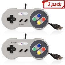 2 x Retro Super Nintendo SNES USB Controller Jopypads For Win Mac SF PC Gamepads
