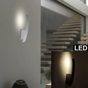 LED Design Wand Leuchte ALU Wohn Zimmer Strahler Beleuchtung Dielen Lampe grau