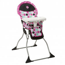 High Chair Disney Baby Adjustable Tray Foldable Portable Compact Minnie Dotty