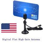 Digital Indoor TV Antenna HD VHF UHF Flat Design High Gain HDTV DTV Box Ready OY