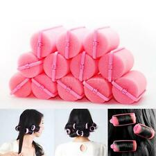 12pcs Magic Sponge Foam Cushion Hair Styling Rollers Curlers Twist Salon A8F6