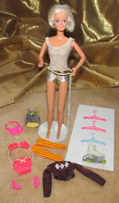Barbie Doll-Casey'S Gold Lame Swimsuit-Twist & Turn! -Pink 2 Pc.-Hangers + More!