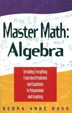 Master Math : Algebra by Debra Anne Ross (1996, Paperback) NEW