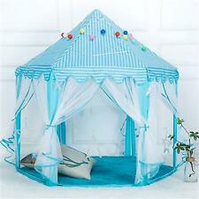 Princess Castle Play House Large Outdoor Kids Play Tent 1.4m Diameter Blue