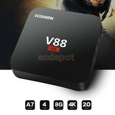 V88 Smart Internet TV Box Quad-Core 1+8G 4K 3D WiFi Player Hotspot Black