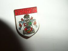 FOOTBALL BADGE ACCRINGTON STANLEY FC  GILT   BROOCH  PIN FITTING
