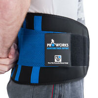 Proworks Adjustable Neoprene Lower Back Lumbar Waist Support Belt Brace Strap