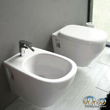 Sanitari sospesi Ten wc VASO+BIDET+COPRIVASO FRIZIONATO bagno design moderno