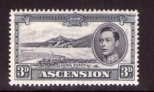 ASCENSION  GEORGE VI 3d Blk and grey single SG42a,  multi-colour L/ hinged