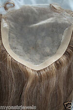 Full Lace Silk Top Closure 7x7 Human Hair Indian Remy Remi Partial Wig 18""