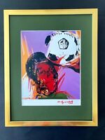 ANDY WARHOL + 1984 SIGNED PELE BRASIL SOCCER PRINT MATTED 11X14 + BUY IT NOW!