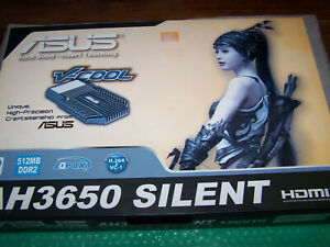 Boxed ASUS Radeon HD3650 Silent 512MB GDDR2 AGP Graphics Card
