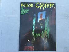 Alice Cooper The Nightmare Returns Tour program guides