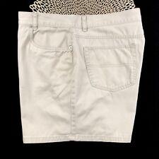 "Tommy Hilfiger Womens Size 16 Khaki Cotton 4"" Flat Front Casual Chino Shorts"