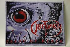 OBITUARY CAUSE OF DEATH PURPLE BORDER WOVEN  PATCH