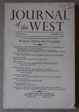 Journal of the West Magazine/Book Vol 3 No 4 - October, 1964