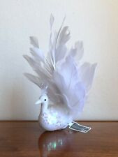 NWT! ALLSTATE Bird Feather Tail White Christmas Tree Ornament Home Decoration