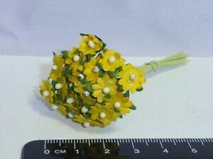 1:12 Scale 10 Flowers Fd paper Dollshouse Miniatures Flowers, Garden