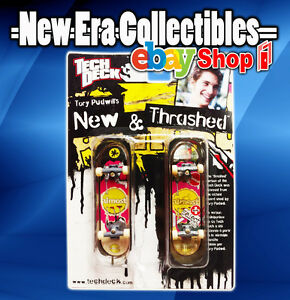 Tech Deck -Almost Skateboard Tory Pudill's - New & Thrashed - Spin Master - 2010