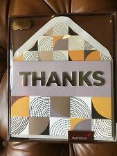 Papyrus Handmade Thank You Gratitude Thanks Boxed 8 Greeting Cards Envelopes