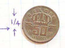 COIN BELGIUM 1970 50 CENTIMES COPPER BELGIE