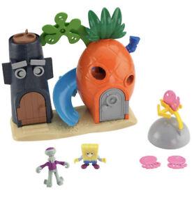 NEW Fisher-Price Imaginext SpongeBob SquarePants Bikini Bottom Playset