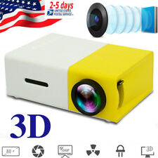 3D Image LED Projector HD 1080P HDMI/USB/SD/AV Cinema Video 360 Picture Flip USA