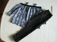 Girl'S Leggings And Off The Shoulder Top - Outfit - Size 10/12