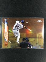 2020 Topps Chrome Pete Alonso Gold Refractor Variation Short Print 16/50 METS