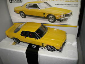 1/18 CLASSIC HOLDEN HJ GTS MONARO ABSINTH YELLOW  2 DR LTD ED #18719 AWESOME CAR