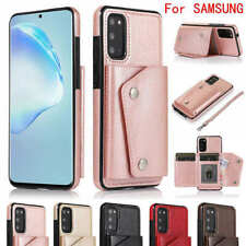 For Samsung Galaxy S20 S10 Leather Slim Wallet Credit Card Slot Stand Case Cover