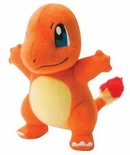 "POKEMON CHARMANDER AUTHENTIC OFFICIAL TOMY LICENSED 8"" LARGE PLUSH NEW w/ TAGS"