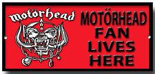 Motorhead Ventilador vive aquí Metal Sign. Ace Of Spades