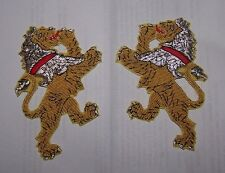 Medieval Heraldry Lion Crest Rampant Knight War Battle Crusades Uniform Patch KT