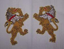 Medieval Heraldry Lion Crest Rampant Knight War Battle Crusades Uniform Patch Kt