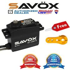Savox SC-1258TG-BE Coreless Digital Servo Black+ Free Aluminium servo horn Gold